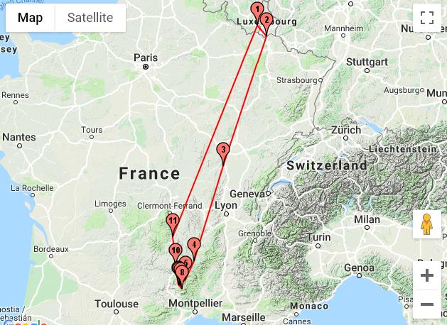 Itinéraire dans les Cévennes