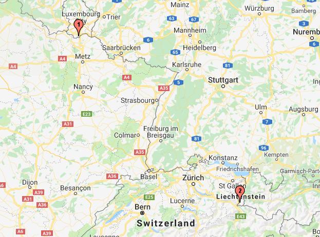 Dudelange (Luxembourg) - Triesen (Liechtenstein)