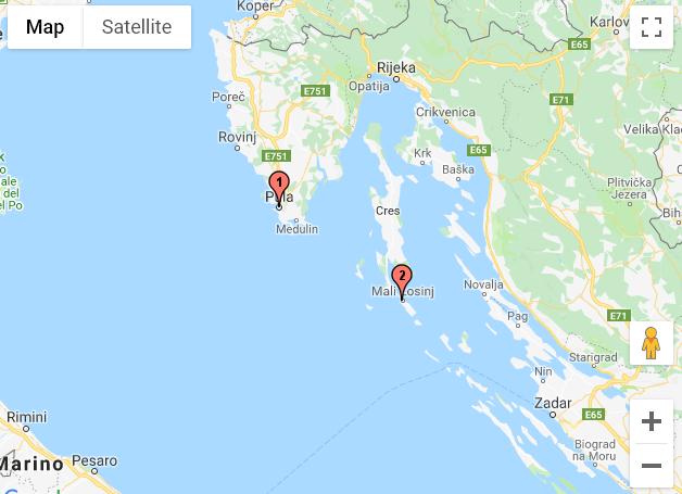 Pula - Mali Losinj (Croatie)