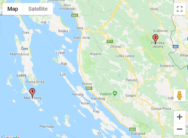 Mali Losinj - Plitvicka Jezera (Croatie)