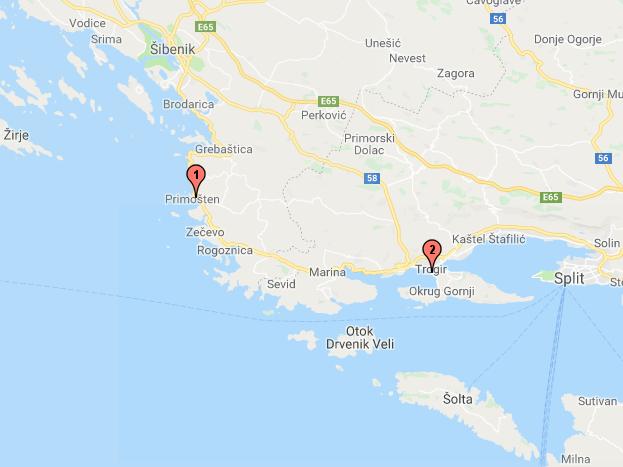 Primosten - Vranjica, près de Trogir (Croatie)