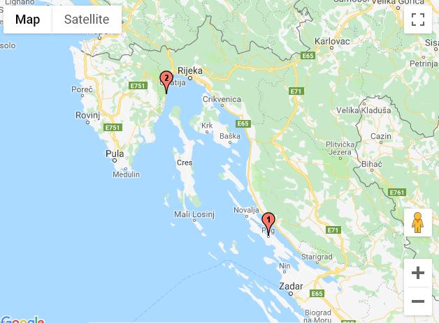 Pag - Moscenicka Draga (Croatie)