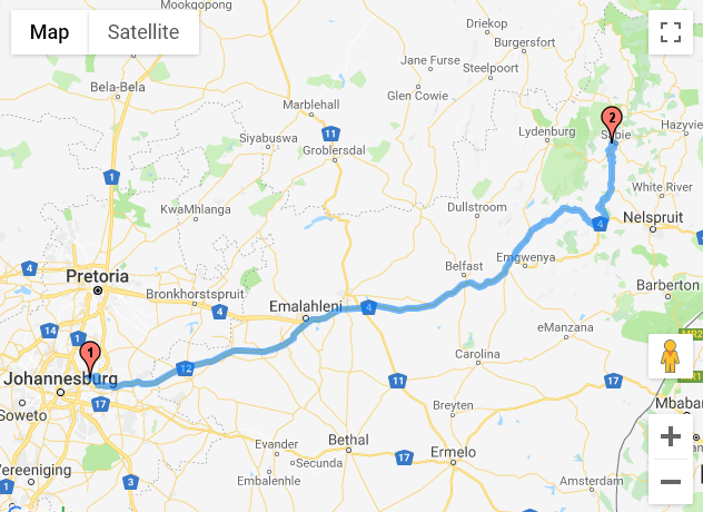 Johannesburg - Sabie