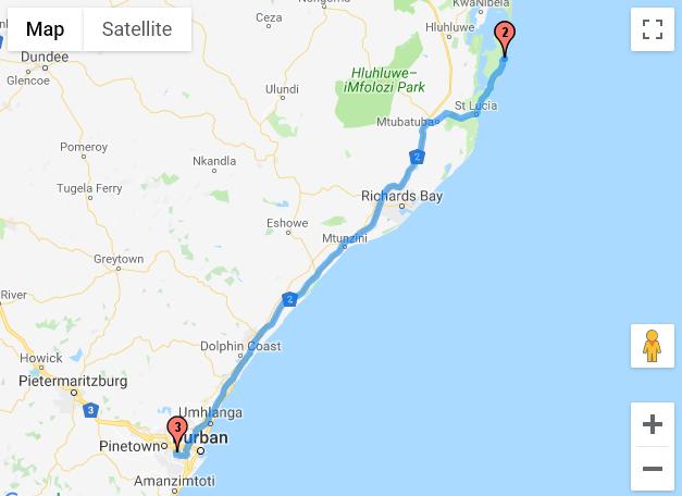 Cape Vidal - Durban (Queensburgh Caravan Resort)